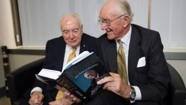 Gough Whitlam and Malcolm Fraser during the latter's 2010 book tour.