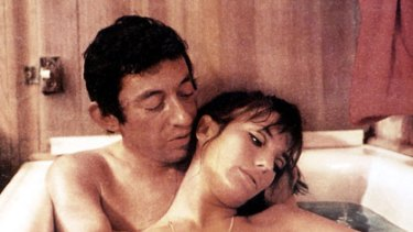 Serge Gainsbourg with partner and muse Jane Birkin.