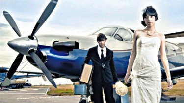 Love is in the air ... modern couples arrive in style.
