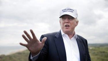 Donald Trump hails the Brexit vote at Trump International Golf Links in Aberdeen.