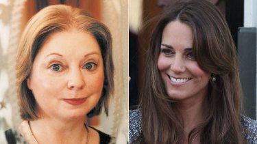 ''Beauty and the barren'' … Hilary Mantel, left, and the Duchess of Cambridge.