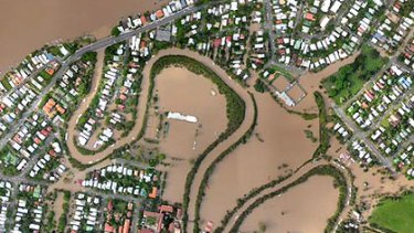 Norman Creek breaks its banks in the January floods.