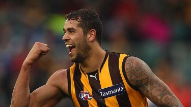 Lance Franklin booted 13 goals for the Hawks against North Melbourne.