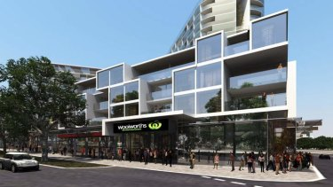 The Woolworths development in North Melbourne.