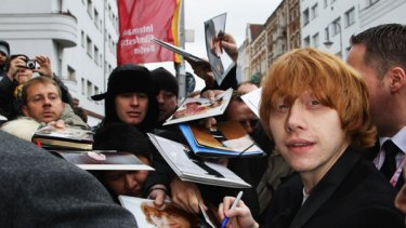 Actor Rupert Grint, who stars as Ron Weasley in the <i>Harry Potter</i> film series.