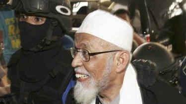 Charged ... Abu Bakar Bashir.