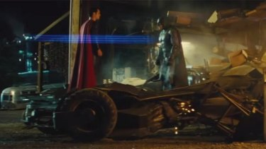 Clash of titans: The Man of Steel confronts the Dark Knight in the trailer for <i>Batman v Superman: Dawn of Justice</i>.