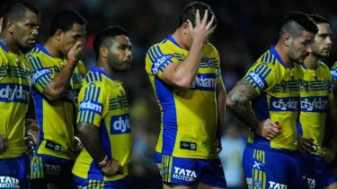 Frustrated: The Cowboys' intensity proved too much for the Eels.
