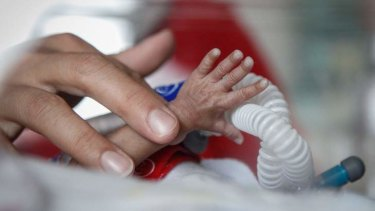 An asylum seeker who was moved off Nauru to give birth has been kept away from her newborn. Photo: Katherine Griffiths