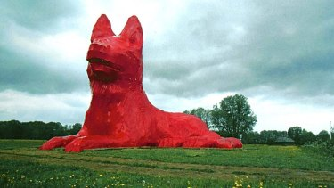 Keeping guard ... Hofman's red dog Max, in Leens in the Dutch province of Groningen.