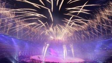 The opening ceremony when Melbourne hosted the Commonwealth Games in 2006.