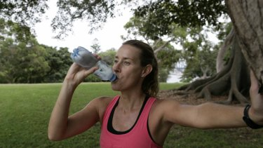 Tough run … athlete Jacinta Worland says years of drinking sports drinks has damaged her teeth.