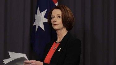 Speaking out ... Julia Gillard