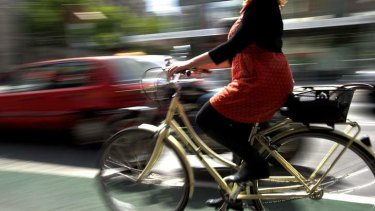 Melbourne has a high proportion of female cyclists.