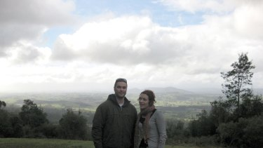 Morgan and his sister Tiffany outside Launceston when he studied there.