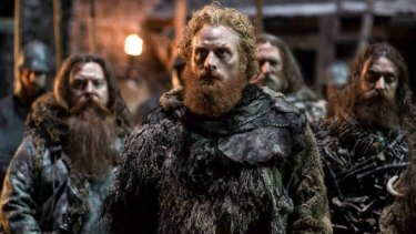 Tormund Giantsbane tells Jon Snow it's easy to call someone in chains a coward, after which the Lord Commander removed the shackles.