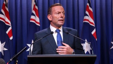 Prime Minister Tony Abbott delivers his national security statement on Monday.