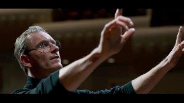 Michael Fassbender as Steve Jobs in the Universal film.