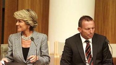 Julie Bishop and Tony Abbott.