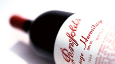 Being challenged for the top spot ... Penfolds Grange.