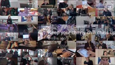 'Keep your chinny chin chins up fellas' ... the ad plays on well-known phrases from the tale.