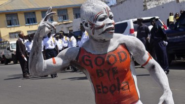 Celebrations to mark Liberia being declared an Ebola free nation earlier this month.