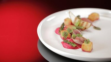 """Pete said the pigeon was """"probably the most beautiful dish I've ever seen on <em>My Kitchen Rules</em>. Ever."""""""