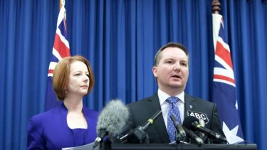 Making plans ... Prime Minister Julia Gillard and Immigration Minister Chris Bowen.