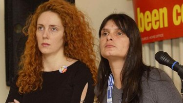 Close friends ... Rebekah Brooks, left, and Sara Payne.