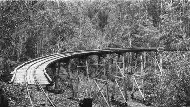 The Beech Creek bridge in 1967.