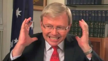 It's moments like these … the embarrassing YouTube video of an angry Mr Rudd which inflamed the leadership showdown in February.