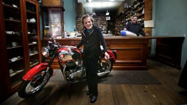 Jean Beanham with son David at their city shop.