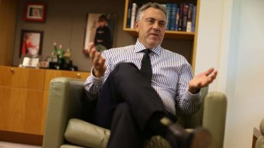 Treasurer Joe Hockey in his Parliament House office.