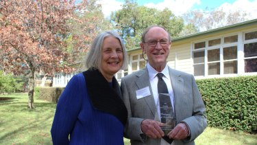 National Institute for Mental Health Research director Professor Kathy Griffiths with Professor Scott Henderson.