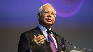 Prime Minister Najib Razak speaking at the Invest Malaysia Conference in Kuala Lumpur last year.