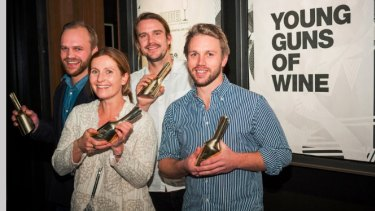 Josephine Perry scoops the top gong at the 'Riedel Young Gun of Wine' awards earlier this month.