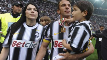 Hero: Alessandro Del Piero is adored back home.