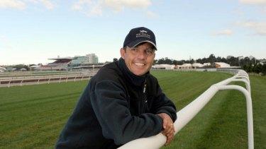 Trainer John Bary on the track at Flemmington.