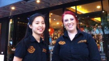 Larissa Lee and Ally Wood from San Churro Chocolateria.