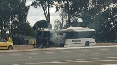 The bus was completely gutted by the fire.