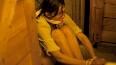 Sarah Bishop in the winery thriller <i>Crushed</i>.