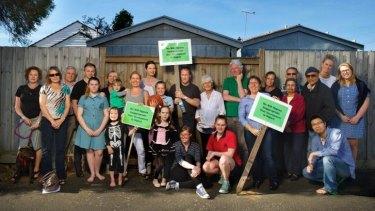 Fighting back: Highett residents oppose inappropriate development in their neighbourhood.