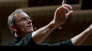 Michael Fassbender as Steve Jobs. Christian Bale and Leonardo Dicaprio were originally considered for the role.
