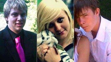 Crash victims Matthew Prior, Brittany Ann Bramwell and Nicholas Saxby.