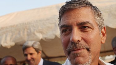 George Clooney, pictured in Sudan earlier this month.