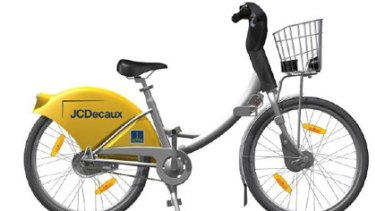 A CityCycle bicycle - the yellow rear wheel guard will carry paid advertisements.
