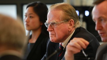 Reverend Fred Nile (centre) says the CSG industry should be put on ice.