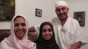 Dawning realisation ... Jamal Ben Hemida with his daughter Lujain and his wife, Najat Milad al-Tarhouni.