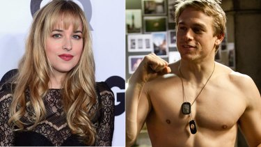 Dakota Johnson and Charlie Hunnam have been chosen to portray the central couple in the film adaptation of <i>Fifty Shades of Grey</i>.