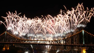 The Story Bridge during Riverfire.